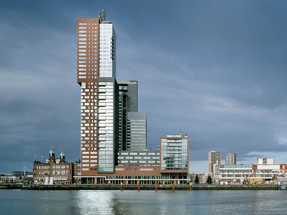 montevideo high rise housing and office block in rotterdam. Black Bedroom Furniture Sets. Home Design Ideas