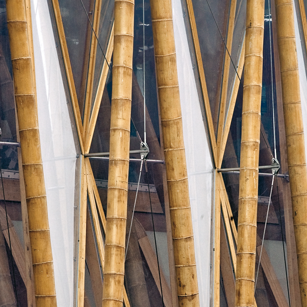 Bamboo - is a raw material of natural origin, has long been used by man in everyday life. More than two centuries ago it was used for the construction of houses, bridges, boats, home paraphernalia, musical instruments. In eastern medicine, the plant was used as a sedative and cosmetic 74