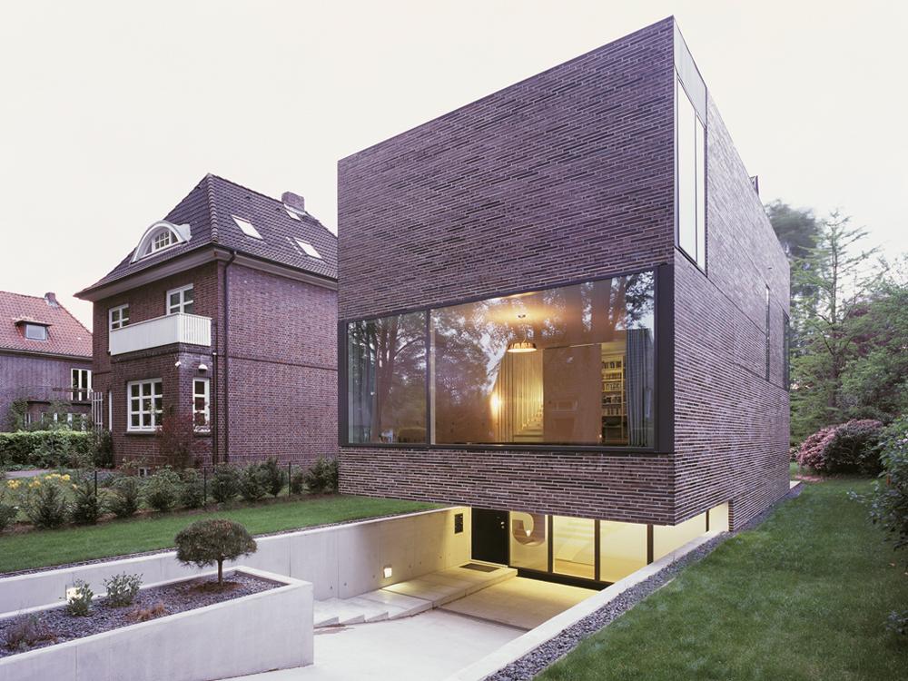 Einfamilienhaus in hamburg detail inspiration for Modernes haus fassade