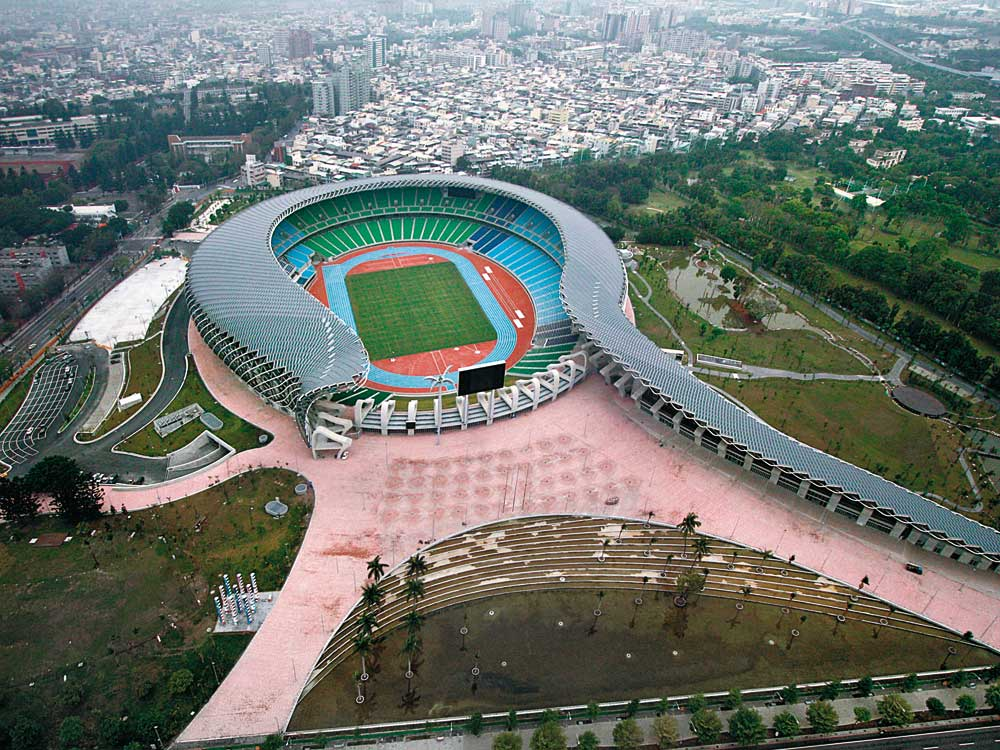 Main Stadium In Kaohsiung Detail Inspiration