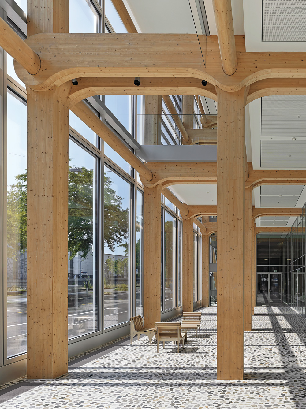 Technology Seven Storey Wood Office Building In Zurich