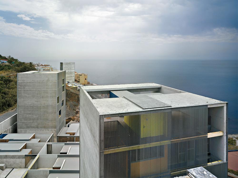 Sichtbeton Detail sozialer wohnungsbau in ceuta detail inspiration