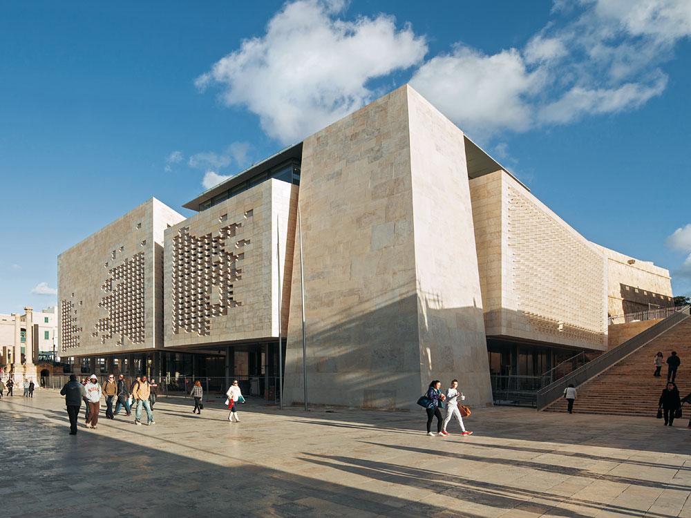 Parliament Building In Valletta Detail Inspiration